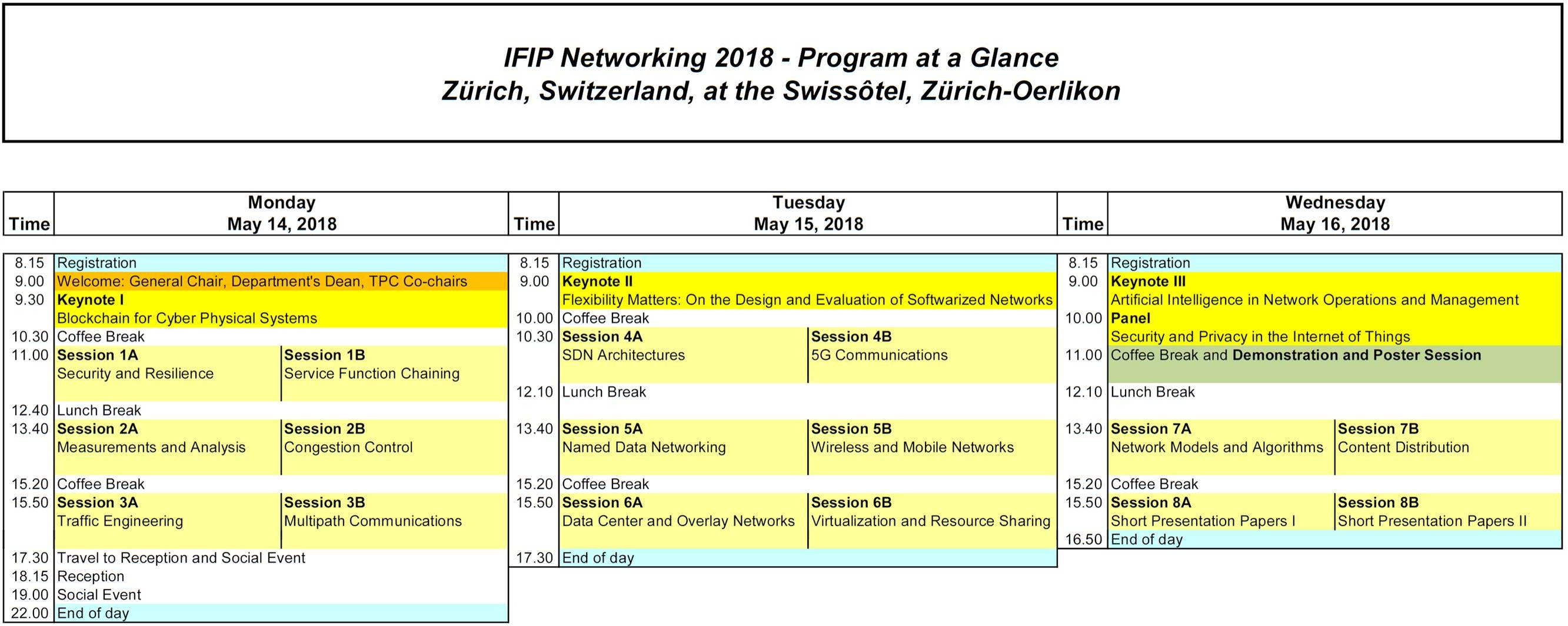 Ifip Networking 2018 Program